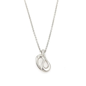 Tiffany & Co. Peretti Platinum Fancy Coiled Snake Pendant Necklace