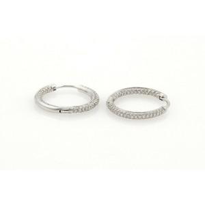 Tiffany & Co. 1ct Diamonds Inside Out 18k White Gold Hoop Earrings