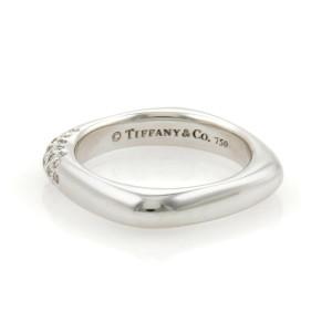 Tiffany & Co. Diamonds 18k White Gold Square Band Ring Size 5