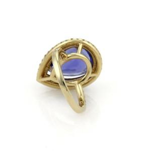New 8.37ct Tanzanite & Diamond 14k Yellow Gold Cocktail Ring Size - 6.5