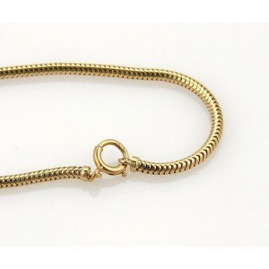 Vintage 14k Yellow Gold Fancy Bead & Bar Snake Chain Drape Necklace