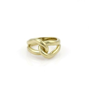 Vintage Tiffany & Co. 18k Yellow Gold Double Loop Interlaced Ring Size -6.5