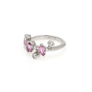 Cartier Meli Melo 1.61ct Diamond Pink Sapphire Platinum Ring Size 49 Cert
