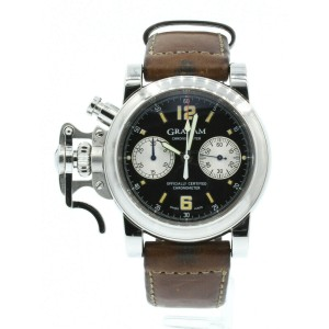 Graham Chronofighter Neuchatel London Greenwhich Chrono Auto steel Watch