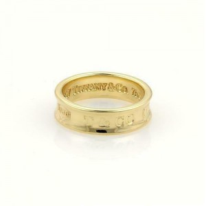 Tiffany & Co. 1837 Collection 18k Yellow Gold 6mm Concave Band Ring Size 6