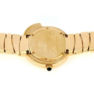 Cartier 18k Yellow Gold Panther Bezel Round Ladies Wrist Watch Quartz 2325