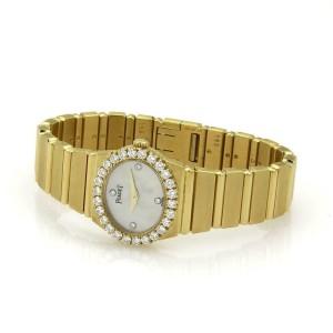 53043 Piaget POLO 1ct Diamond 18k Yellow Gold Mother of Pearl Ladies Quartz Watc