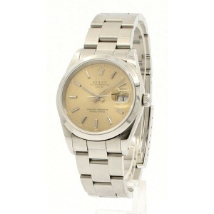 Mens Vintage ROLEX Oyster Perpetual Date 34mm TROPICAL Dial Circa 1992 15200
