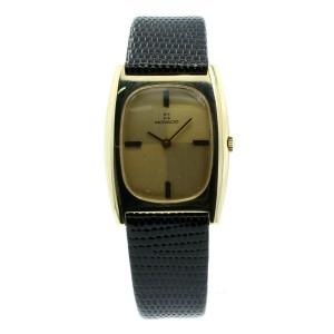 Vintage MOVADO 14k Solid Yellow Gold Tonneau Men's Dress Watch