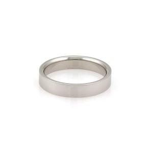Tiffany & Co. Platinum 4mm Wide Flat Wedding Band Ring Size - 6.5