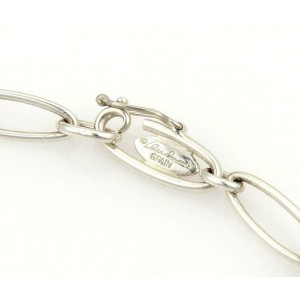 Tiffany & Co. Peretti Sterling Silver 5 Charms Oval Chain Link Bracelet
