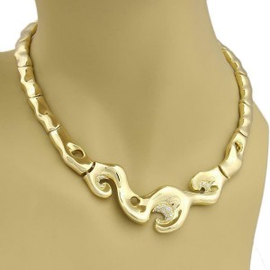 Fabian Diamond 18k Yellow Gold Fancy Collar Necklace