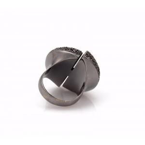 Carla Amorim CIDADE 4.5ct Black Diamond & 18k Gold Fancy Ring Size 6