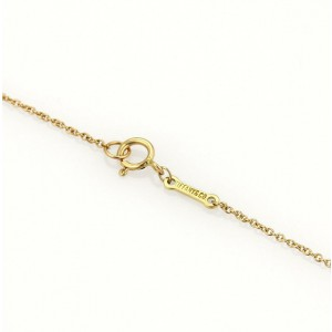 Tiffany & Co. Peretti 18k Yellow Gold Whale Tail Pendant & Chain Necklace