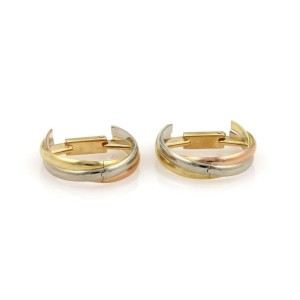 Cartier TRINITY 18k Tri-Color Gold Triple Band Curved Cufflinks