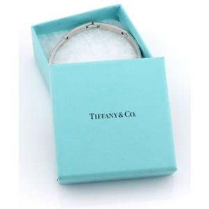 Tiffany & Co. 18K White Gold Fancy Chain Link Designer Bracelet w/ Box
