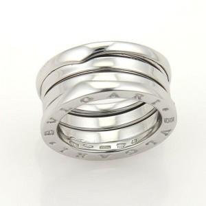 Bvlgari Bulgari B Zero-1 18k White Gold 9mm Wide Band Ring Size 48 -US 4