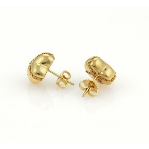 Tiffany & Co. 18k Yellow Gold Crossover Hearts Stud Earrings