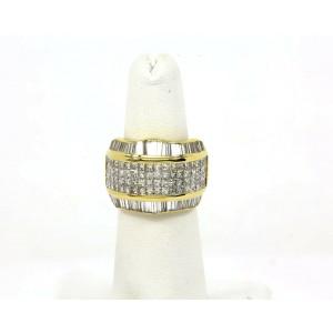 STUNNING 18K YELLOW GOLD & 5 CARATS DIAMONDS LADIES DRESS BAND