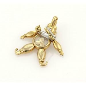 Chopard Happy Diamonds Ruby 18k Gold Animated Clown Pendant/Pin
