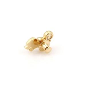Chopard 18K Yellow Gold Happy Diamonds Elephant Pin / Brooch