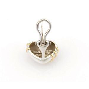 Tiffany & Co. 18k Yellow Gold 925 Silver Cupid Arrow Heart Stud Earrings