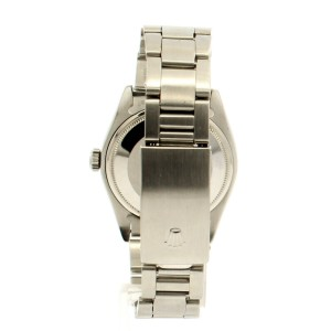 Mens ROLEX Oyster Perpetual Date 34mm Tahitian MOP Dial Diamond Stainless Watch