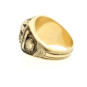 10K YELLOW GOLD TOP PERFORMER 82 RING 15.7 GRAMS SIZE 10.5