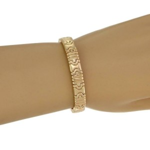 Bvlgari Bulgari Parentesi 18k Yellow Gold 10mm Wide Cuff Bracelet