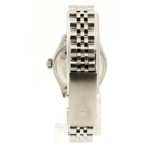 ROLEX Oyster Perpetual Datejust Steel 26mm Aqua BLUE Diamonds Dial Watch