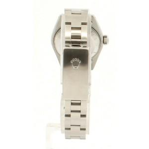 ROLEX Oyster Perpetual Datejust Steel 26mm Blue MOP Dial Diamond Watch