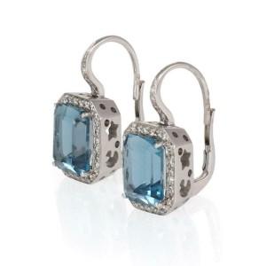 Pasquale Bruni 5.50ct Diamond & Tourmaline 18k White Gold Dangle Earrings