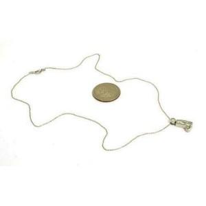 Platinum 1.40ct Boot Cut Diamond Pendant & Chain Necklace