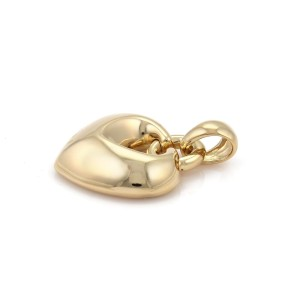 Bvlgari Bulgari 18k Yellow Gold Large Puffed Heart Pendant