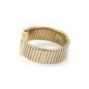Bvlgari Bulgari 18k Tricolor Gold Tubogas Open Flex Band Quartz Wrist Watch