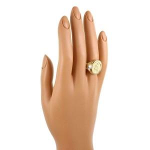 Athena Signed Diamond 18k Yellow Gold Athena Oval Ring Size 5.5
