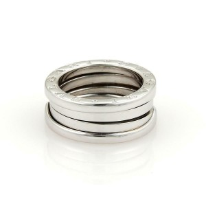 Bulgari Bvlgari B Zero-1 18k White Gold 8mm Band Ring Size EU 50-US 5
