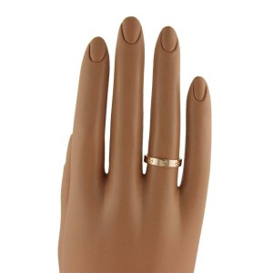 53377Cartier Mini Love 18k Pink Gold 3.5mm Band Ring Size: 51-US 5.75