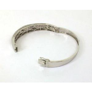 Beautiful 6.00ct Rubies & Diamonds Dome Bangle Bracelet