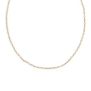 2.30ct Diamond By The Yard 14k Rose Gold Bezel Set Eternity Necklace