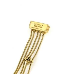 Jose Hess 1.00ct Diamond 18k Yellow Gold Multi-Strand Snake Chain Bracelet