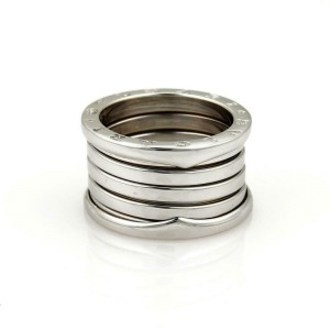 65842 Bvlgari Bulgari B Zero 1 18k White Gold 13mm Band Ring Size 57-US 7.5