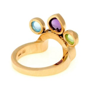 Bvlgari Bulgari Allegra 1.75ct Multicolor Gems 18k Gold Slide Ring Size 6.5