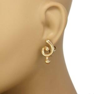 Angela Cummings Vintage 18k Yellow Gold Swirl Post Clip Earrings