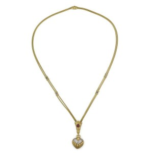 Seidengang 3.50ct Diamond & Gems 18k Gold Heart Pendant Necklace