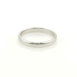 Tiffany & Co. Platinum 3mm Wide Dome Wedding Band Ring Size - 8.75