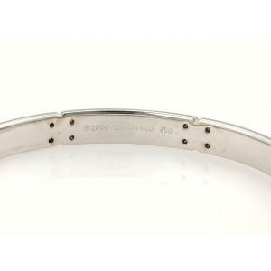 Tiffany & Co. Streamerica Diamonds 18k White Gold Bangle Bracelet