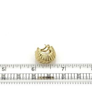 Tiffany & Co. Cordis 18k Yellow Gold Fancy Grooved Design Huggie Earrings