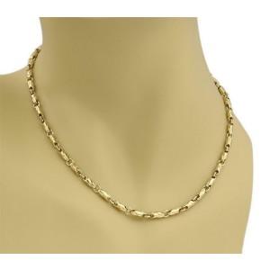 Bvlgari Bulgari 18k Yellow Gold 3.5mm Fancy Link Chain Necklace