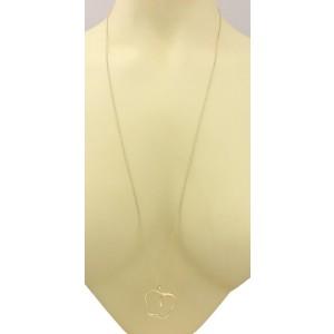 "Tiffany & Co Elsa Peretti Large Apple Pendant 18k Yellow Gold Necklace 30"" Long"